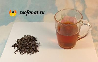 Крепко заваренный качественный чай