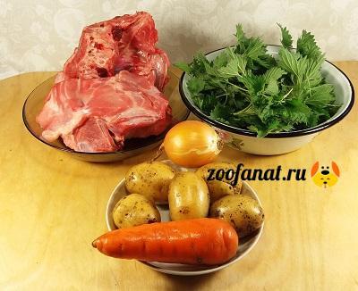 Продукты для натурального кормления собаки