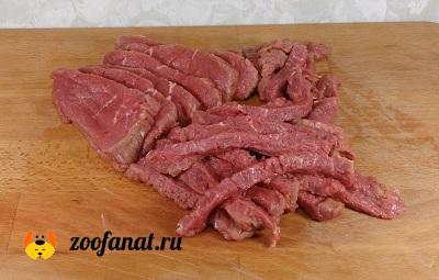Мелко режем говядину