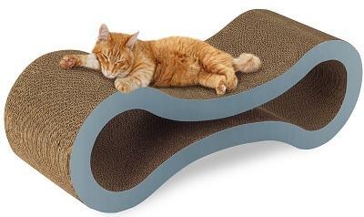 Домик для кошки с когтеточкой из гофракартона, сизали и джута, для взрослого кота или котенка