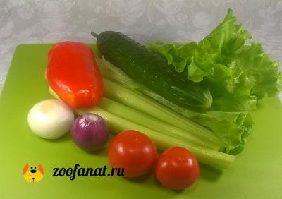 Не забывайте про свежие овощи