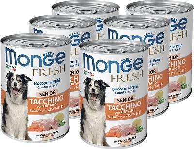 Monge Dog Fresh Chunks in Loaf Turkey Senior